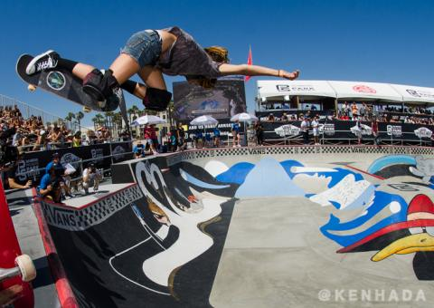 Vans Park Series skateboard contest Nora Vascocellos