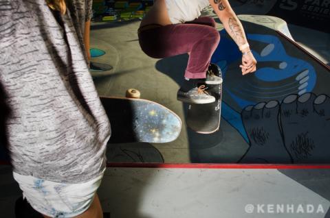 Vans Park Series skateboard contest Hana Zanzi