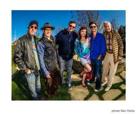 Robert Peters, Rob Morrow, Bob Saget, John Stamos, Garry Marshall candid photo