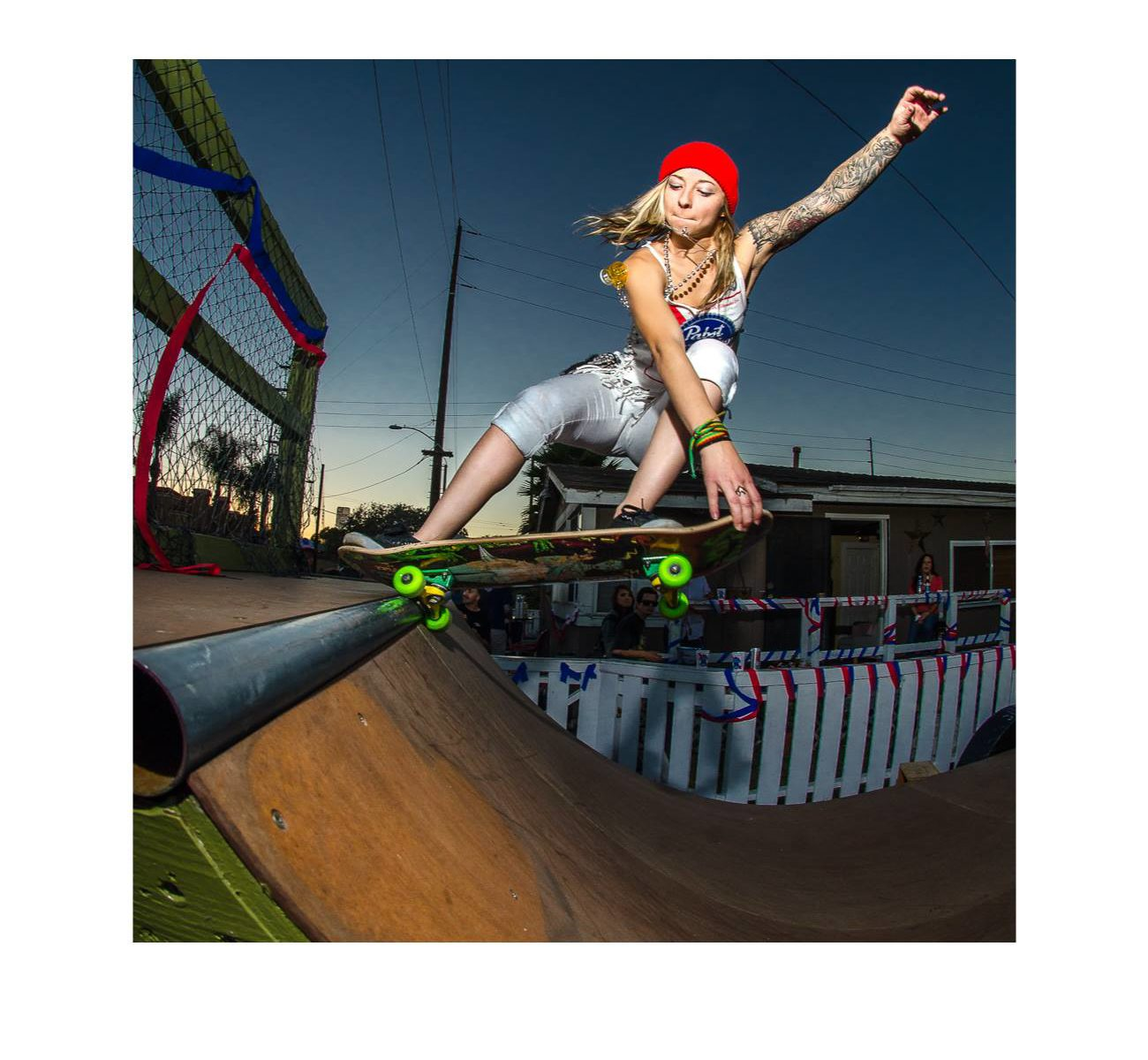 Julz Lynn skateboard ramp huntington beach