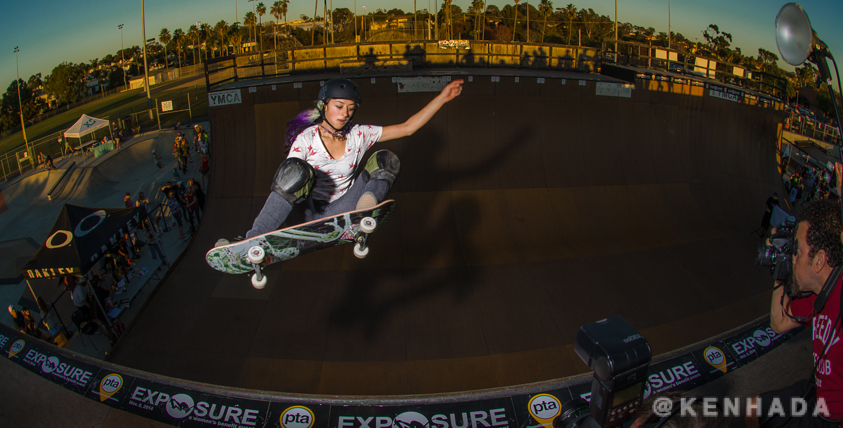 lizzie Armanto skateboarding winner of Exposure 2014 contest